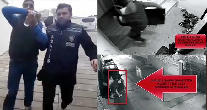 Gaziantep'te evde televizyon hırsızlığına tutuklama