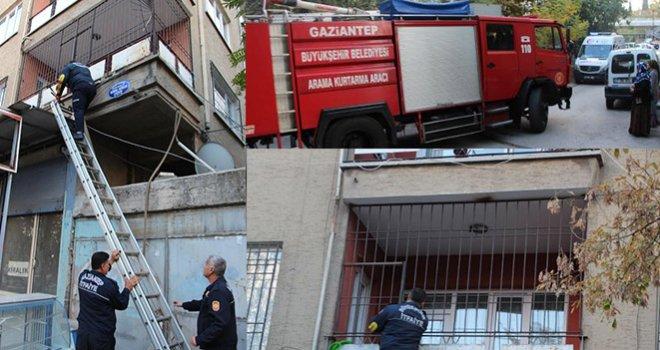 Gaziantep'te Evden gelen kötü koku paniğe neden oldu