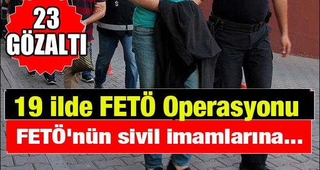 Gaziantep'te FETÖ'nün sivil imamlarına operasyon!