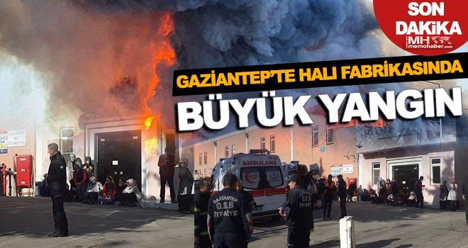 Gaziantep'te halı fabrikasında yangın! 13 işçi dumandan etkilendi