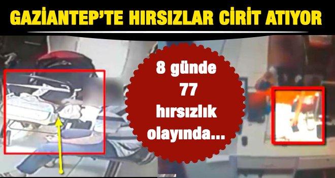 Gaziantep'te hırsızlık olaylarında 80 kişiden 18'i tutuklandı