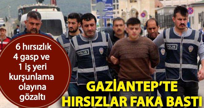 Gaziantep'te hırsızlık ve gasp şüpheliler yakalandı!