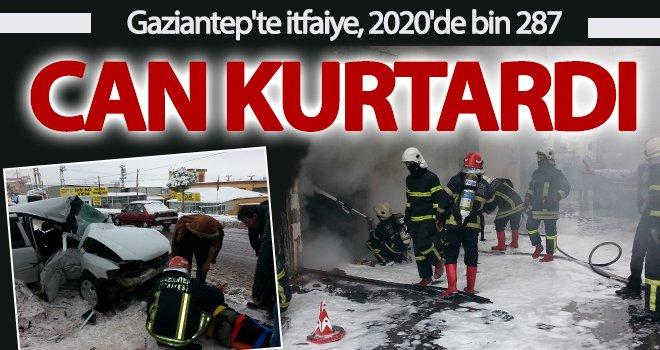 Gaziantep'te itfaiye 2020'de bin 287 kişinin hayatını kurtardı