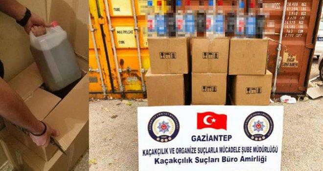 Gaziantep'te kaçak içki ve sahte alkol operasyonu