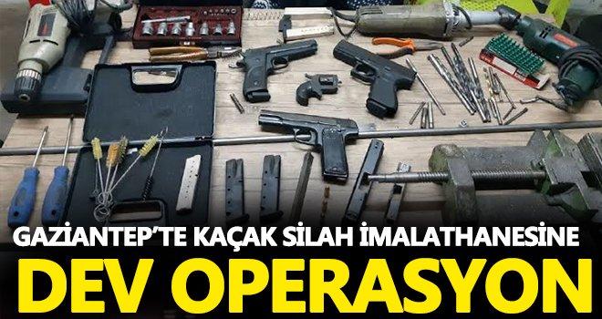 Gaziantep'te kaçak silah imalathanesine operasyon