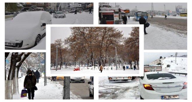 Gaziantep'te kar esareti, yüzlerce araç yolda kaldı