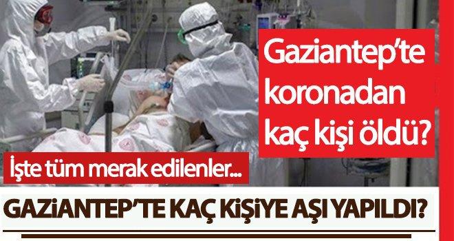 Gaziantep'te koronadan toplam kaç kişi vefat etti?