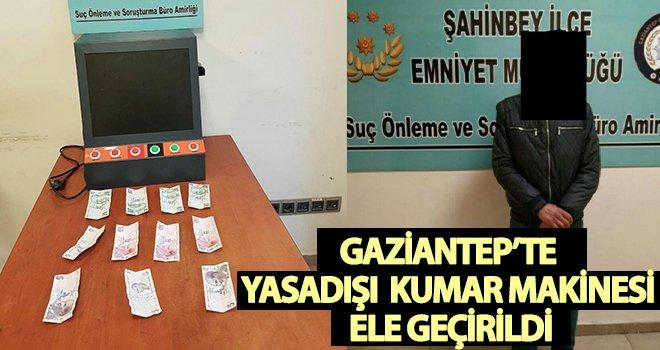 Gaziantep'te kumar makinesi ele geçirildi!
