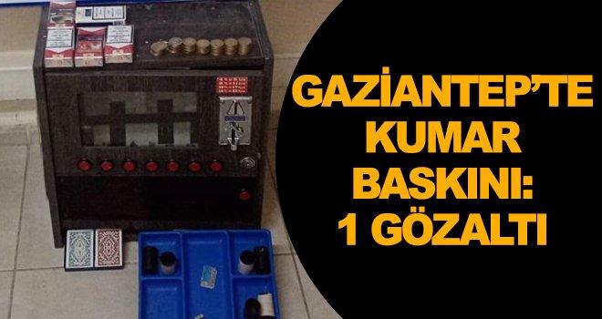 Gaziantep'te kumar operasyonu: 1 gözaltı
