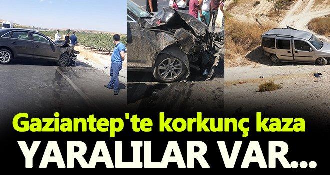 Gaziantep'te lüks otomobil araca çarptı: Yaralılar var