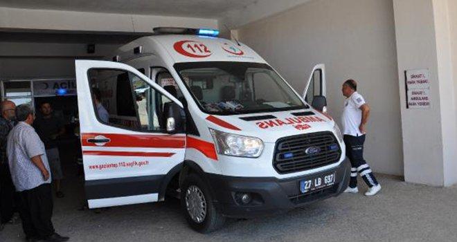 Gaziantep'te motosikletin çarptığı çocuk yaralandı