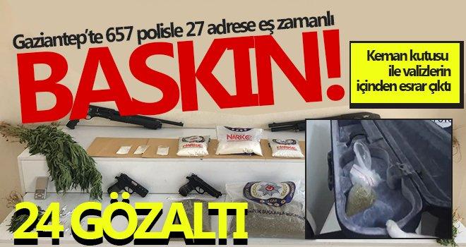 Gaziantep'te 'Narko-Şahin 27 Operasyonu'yla uyuşturucu tacirlerine darbe vuruldu