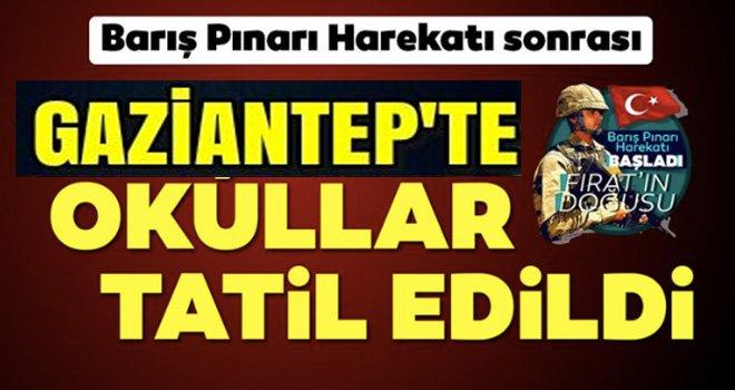 Gaziantep'te o ilçede okullar tatil edildi!