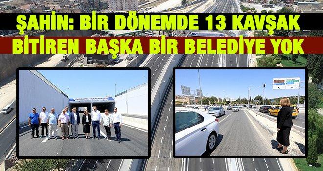 Gaziantep'te o kavşak bayram öncesi trafiğe açıldı