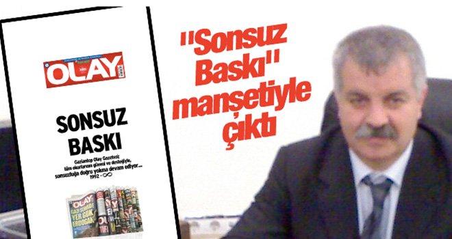 Gaziantep'te Olay Gazetesi yıldönümünü 'Sonsuz Baskı' manşetiyle çıktı