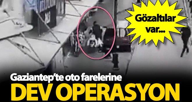 Gaziantep'te oto hırsızlığı! 31 kişi gözaltına alındı
