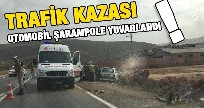Gaziantep'te otomobil devrildi: Sürücüsü yaralandı