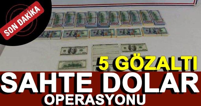 Gaziantep'te otomobilde sahte 5 bin 900 dolar ele geçirildi