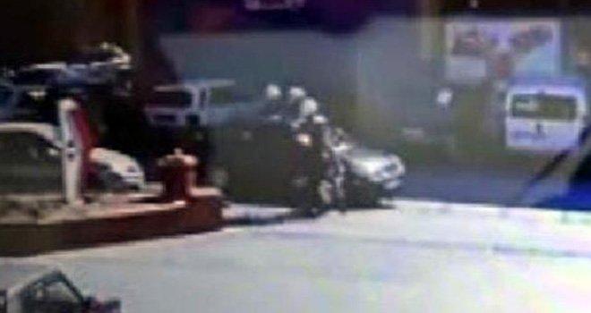 Gaziantep'te polis- şüpheli kovalaması kamerada