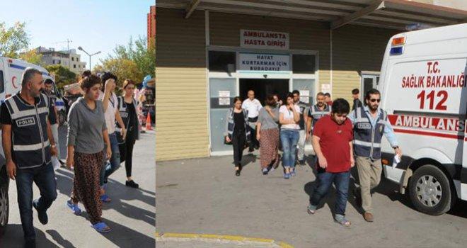 Gaziantep'te Polise ateş açan 3 kardeş adliyede