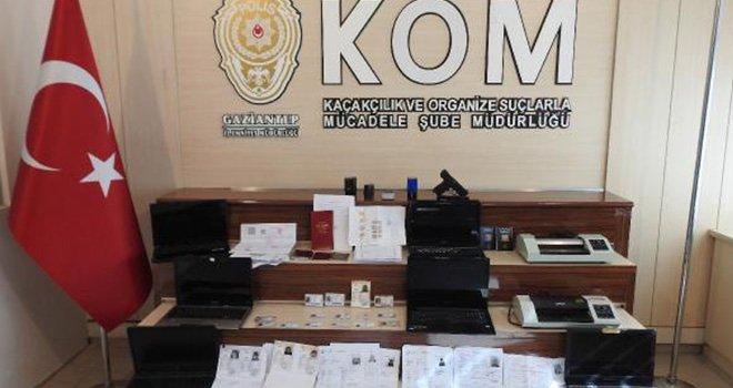 Gaziantep'te sahte evrakdan 2 kişi gözaltında