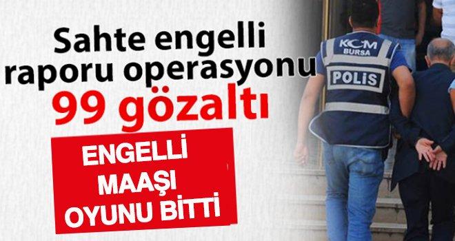 Gaziantep'te sahte rapor çetesi çökertildi: 99 gözaltı