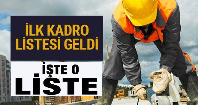Gaziantep'te Taşeron işçi başvuru sonuçları belli oldu! İşte liste
