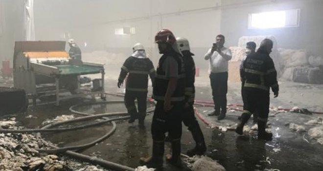 Gaziantep'te tekstil fabrikasında yangın