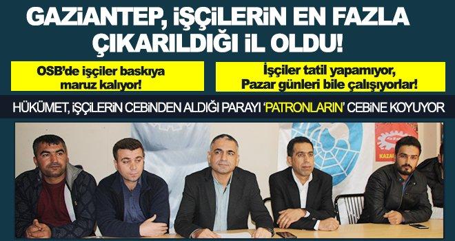 Gaziantep'te tekstil işçilerinin sorunları anlatıldı