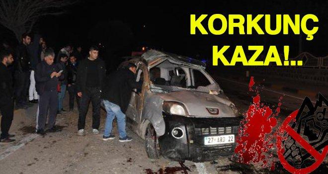 Gaziantep'te trafik kazası: 1 ölü, 5'i çocuk 7 yaralı