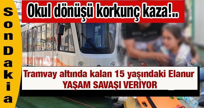 Gaziantep'te Tramvayın altında kalan öğrencinin feci sonu