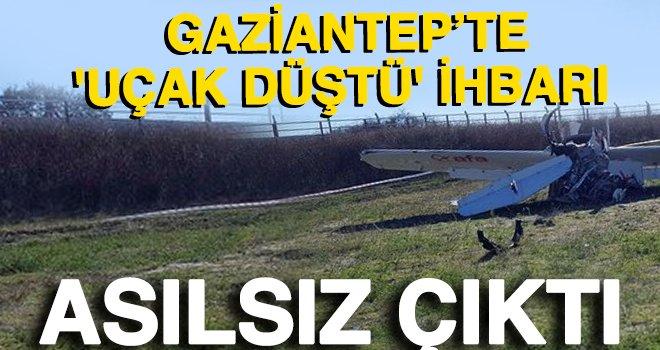 Gaziantep'te 'uçak düştü' ihbarı asılsız çıktı