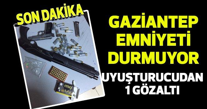 Gaziantep'te uyuşturucu operasyonu: 1 gözaltı