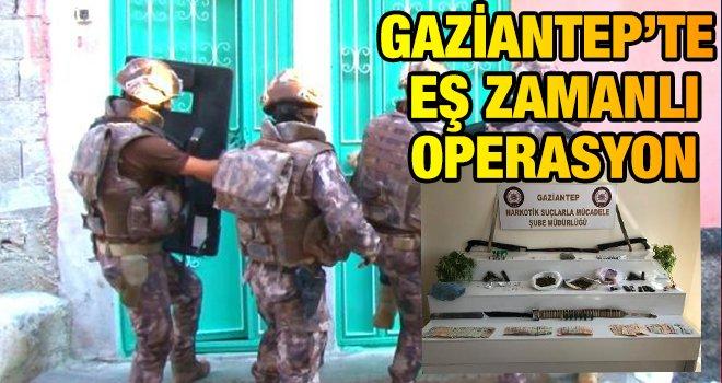Gaziantep'te uyuşturucu operasyonu: 30 gözaltı