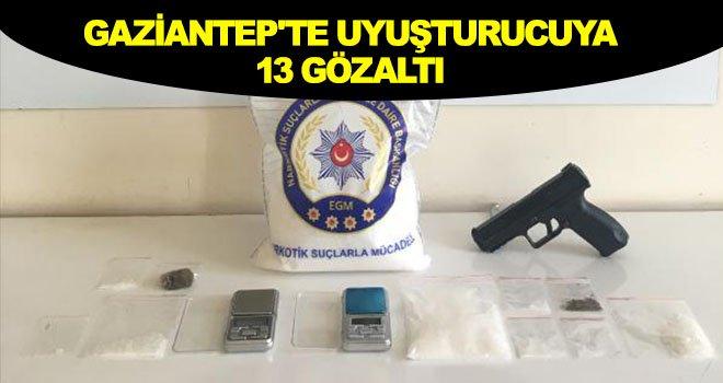 Gaziantep'te uyuşturucu ticareti yapanlara operasyon