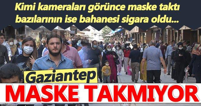 Gaziantep'te vatandaş maske takmıyor!