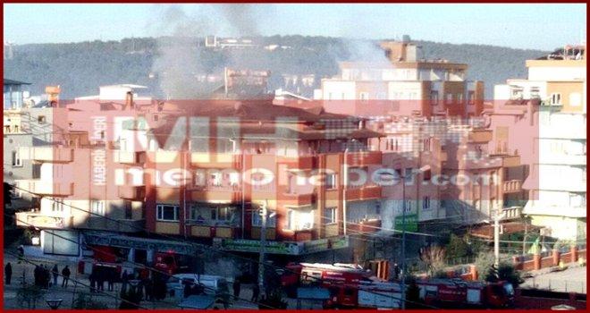 Gaziantep'te yangın!.. Binada mahsur kalanlar kurtarılıyor...