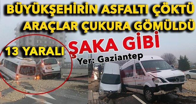 Gaziantep'te yol çöktü: Bunun hesabını kim verecek?