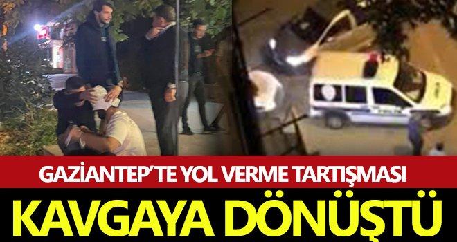 Gaziantep'te yol verme kavgası ortalığı karıştırdı