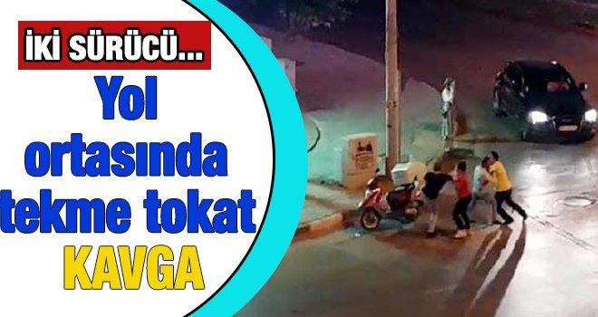 Gaziantep'te yol verme tartışmasında tekme tokat kavga