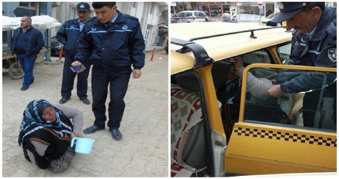 Gaziantep'te zabıta ekipleri dilenciyi taksiyle evine gönderdi
