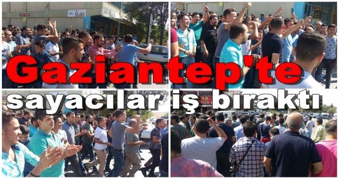 Gaziantep'te zam isteyen sayacılar iş bıraktı