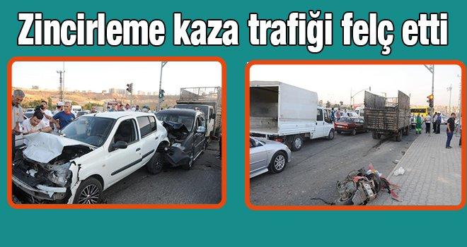 Gaziantep'te zincirleme kaza: 1'i ağır, 5 yaralı