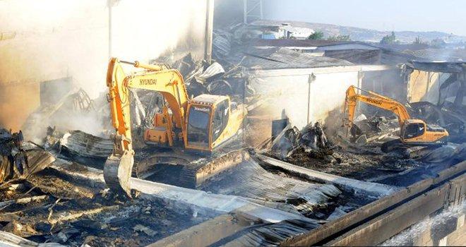 Gaziantep'teki fabrika yangını 12 saatte söndürüldü