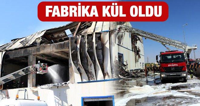 Gaziantep'te fabrikada çıkan yangın kontrol altına alındı