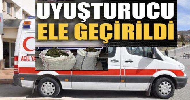 Gaziantep'ten giden ambulansa uyuşturucu operasyonu