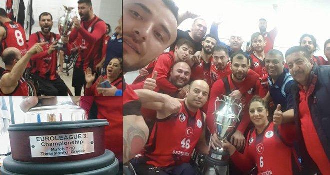 Gazişehir Yunanistan'dan namaglup şampiyon döndü