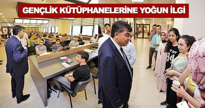 Gençlik kütüphanelerinden yaklaşık 500 öğrenci yararlanıyor