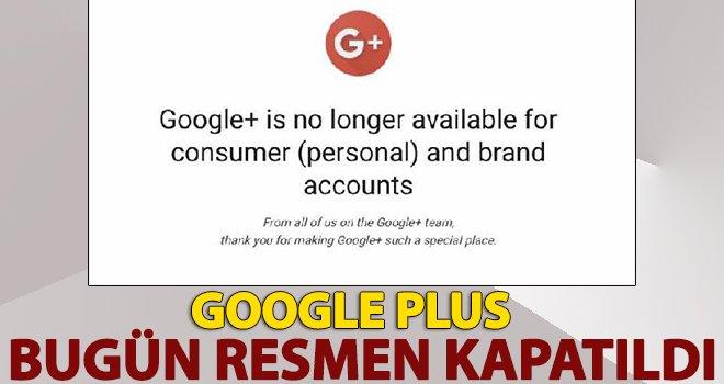 Google Plus platformu kapatıldı!