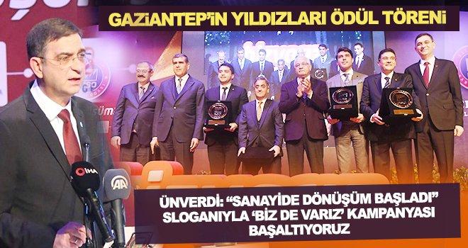 GSO'da 'Gaziantep'in Yıldızları Ödül Töreni' yapıldı